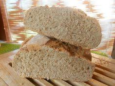 mes amis de la campagne,mon donné du blé pour essayer de faire soit meme de la farine. j'ai essayée et je trouve cela pas trop mal,je l'ai quand même mélanger a de la farine normale,ce qu'il fait que c'est du pain semi-complet et très bon. recette au...
