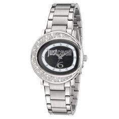 Just Cavalli LAC 3H Stainless Steel Black Dial Bracelet Steel Ladies Watch - 7253186501