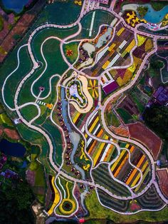 Earth Graffiti, Shaoguan, Guangdong, China by Xu Yuhong Themed Photography, Aerial Photography, Landscape Photography, Cityscape Photography, Documentary Photography, Photography Ideas, Graffiti, Aerial Images, Aerial Drone