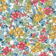 Robert Kaufman House Designer - London Calling Lawn 6 - Bouquet in Spring