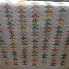 """Flying Geese and Bikes - baby quilt 41"""" x 48"""" by StitchandBrew on Etsy"""