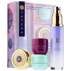 Skincare for Makeup Lovers Obento Box $59    - 1.35 oz/ 40 mL Luminous Dewy Skin Mist  - 0.34 oz/ 10 mL The Water Cream  - 0.34 oz/ 10 mL Violet-C Radiance Mask  - 0.21 oz/ 6 g Gold Spun Camellia Lip Balm