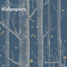 Woods and Stars Charcoal wallpaper by Cole & Son - wallpaper for foyer maybe . Woods and Stars Charcoal wallpaper by Cole & Son - wallpaper for foyer maybe . Stars Wallpaper, Forest Wallpaper, Wood Wallpaper, Kids Wallpaper, Wallpaper Online, Wallpaper Backgrounds, Custom Wallpaper, Wallpaper Roll, Grey Pattern Wallpaper