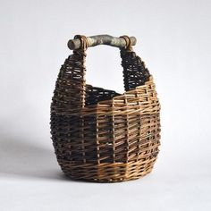 Woven into the shape of a honey pot, this basket looks great next to the fire for storing peat or next to the sofa to keep your favourite blanket close to hand on those chilly winter nights. Colour variations will occur as all of the willow naturally grows in different shades of browns and greens, Diane selects and matches the colours together in her own designs. Fruit And Veg, Fresh Fruit, Birch Branches, Textures And Tones, Spiral Pattern, Natural Texture, Honey, Basket, Shades