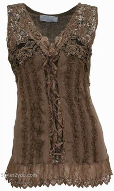 NEW Pretty Angel Clothing Mercer Women's Vintage Corset Top In Brown 67642 Vintage Outfits, Vintage Inspired Outfits, Vintage Fashion, Vintage Corset, Victorian Corset, Vintage Mode, Vintage Ladies, Pretty Angel Clothing, Pretty Outfits