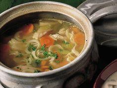 Sopa de Pollo con Fideos - Que Rica Vida