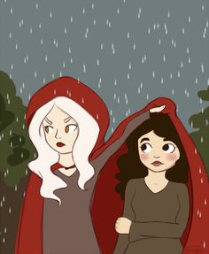 Not that Manon actually cares if Elide gets rained on. Nope. Not at all.
