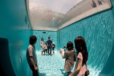 Pool installation in the 21st Century Museum of Art in Kanazawa, Japan by SANAA