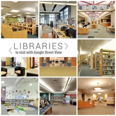You can visit the #library that is thousands miles away, without leaving your chair. Just open Google Street View.