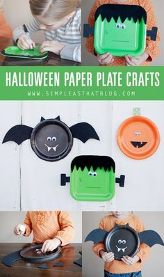 Kids Halloween Paper Plate Party Craft ideas