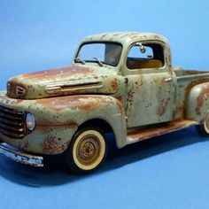 Nice rust and patina on a 50 Ford F1 1:24/5
