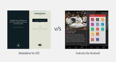 iOS Design vs. Material Design #ios #business #productdesign #userinterface