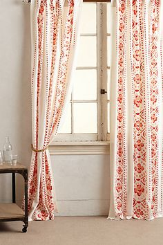 curtains #red #anthroregistry