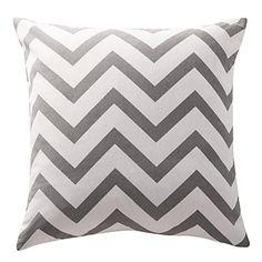 Ash Grey Chevron Cotton Canvas Decorative Pillow – USD $ 21.99