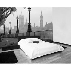 London Fog Wall Mural (R1499.95); Size: 3.66m x 2.54m. In stock at Pick-a-Paint, 184a Beyers Naude, Rustenburg. Tel: 014 597 2950.