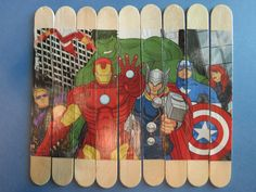 DIY- Comic book craft stick puzzle