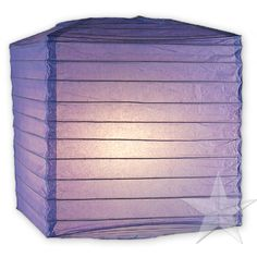 "12 square periwinkle 10"" rice paper lanterns (Available in other colors) 71.99"