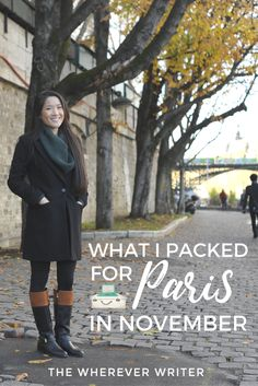 Paris packing list winter | Paris packing list fall | Find out how to pack for Paris in November using only carry-on! Click to read the rest!