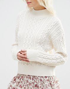 Bild 3 von ASOS – Hochgeschlossener Pullover mit Zopfmuster