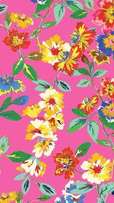 Kate Spade flower pattern, pink, background,