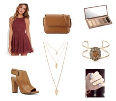 """""""Untitled #13"""" by kariannsweeney ❤ liked on Polyvore featuring Lucy Love, ALDO, Tory Burch, Forever 21 and Urban Decay"""