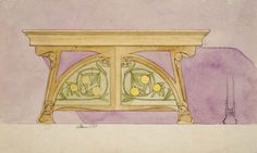 design-is-fine:  Gaspar Homar, Design drawings of Art Nouveau...