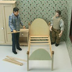 Make a Wooden Dollhouse Bed For Miniature or Fashion Dolls