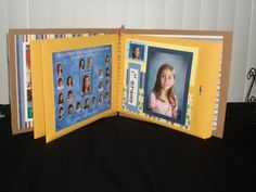 School Days album: pages are envelopes and inside you place extra pictures, report cards, cd's with fieldtrip pics. and school certs.