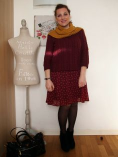 #verdementa - #fashion from my #curvy point of view: #Outfit   monocromo campagnolo #country lady, #burgundy