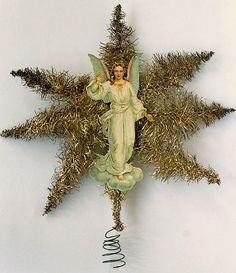 Tinsel Star with Angel Scrap Tree Topper.