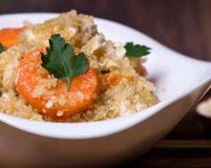 Risotto léger de quinoa au citron confit et crevettes caramélisées