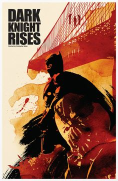 Batman Trilogy Poster Set via Etsy.