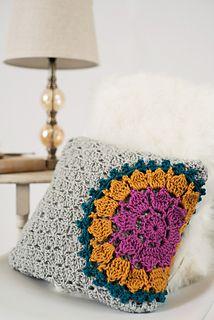 Mandala Burst Pillow Crochet Pattern
