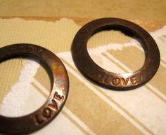 Love Affirmation Connector from Trinity Brass by beadbarnsupplies, $2.00