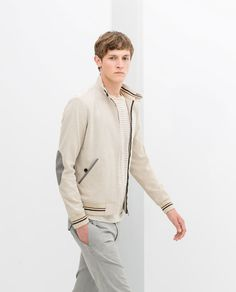 PIQUE JACKET WITH CONTRAST PIPING