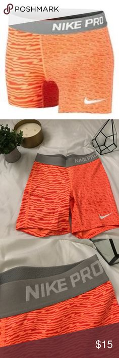 Girls Large orange NIKE PROS! Fits like a XS/S 🍊 Perfect condition! Orange NIKE PROs. Girls size large, but fits like a women's XS/S! Nike Shorts