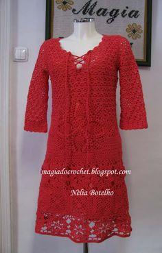 Magia do Crochet: Vestido em crochet para senhora