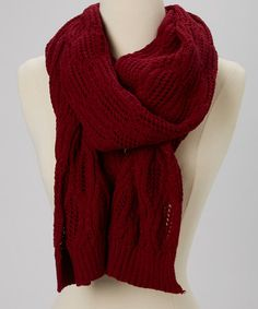 Take a look at this Deep Magenta Wool-Blend Scarf by Sorta Southern Boutique on #zulily today!