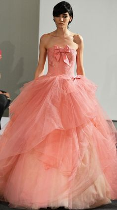 1000 images about pink paradise on pinterest pink for Vera wang rose wedding dress