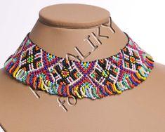 Granos de cristal hechos a mano popular ucraniano tradicional collar Gerdan: Multicolor