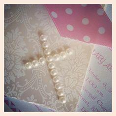 Baptism - Christening invitation - baby girl pink highend annoucement on Etsy, $5.67 AUD