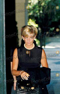Princess Diana Photo - C/n 027542 7-27-1997 Versace's Memorial Service , Milan Italy Princess Diana