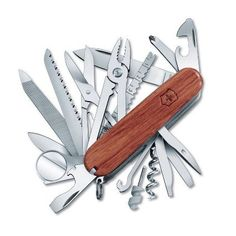 Never find yourself without the essentials while traveling. Victorinox Swiss Champ Multitool | National Geographic Store