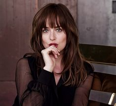 Beautiful Dakota Johnson. Seriously one of the most gorgeous brunette ' s I've ever seen. Innocent, Lovely, Beautiful, and Gorgeous !!!