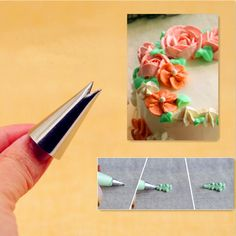 Leaf Shape Icing Piping Tips Nozzle Cake Cupcake Decorating Pastry Set Trendy Russian Cake Decorating Tips, Cupcake Decorating Tips, Cake Decorating Piping, Russian Pastries, Russian Cakes, Russian Piping Tips, Icing Nozzles, Piping Icing, Fondant Decorations