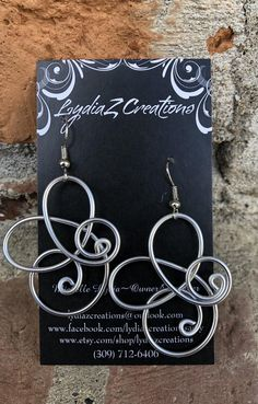 Wire Wrapped/Silver Jewelry/Silver Aluminum Lightweight Earrings/LydiaZ/Boho/Hippie/Unique/Wire Dangle Earrings/Handcrafted Artisan Jewelry I always send something special with every order! Comes in elegant gift box! ------------------------------------------- PRODUCTION TIME ✤ Ships