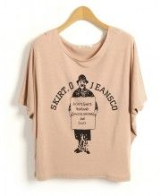 Modal T-shirt with A Gentleman Print Details
