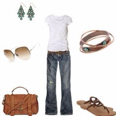 The White T-shirt outfit ! Minus the earrings... I could rock this