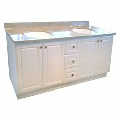 72 Inch W Classic Vanity Base - White Base Cabinets, Kitchen Cabinets, Ornamental Mouldings, Kitchen Cabinet Organization, Cabinet Space, Kitchen And Bath, Home Depot, Double Vanity, Drawers