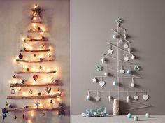 alternatieve kerstboom, kerstboom maken, houten kerstboom